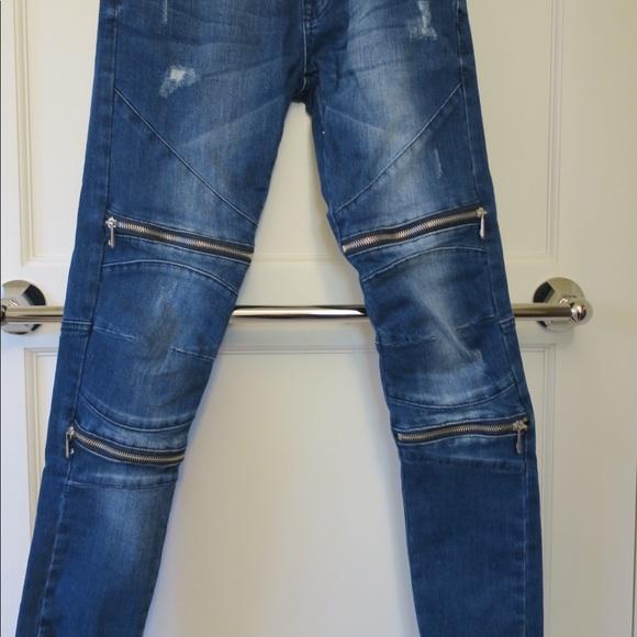 Zara Jeans Man Zipper Moto Skinny Size 30 Poshmark